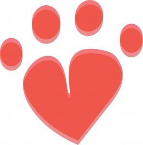 Coeur avec chats