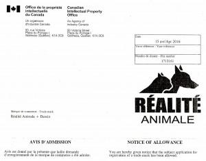 Réalité Animale - Marque de commerce 6